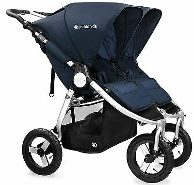 Bumbleride Indie Twin All Terrain Twin Baby Double Stroller 2016 Maritime Blue