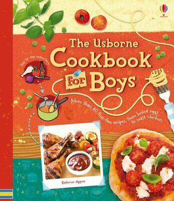 Cookbook for Boys (Usborne Cookbooks) by Abigail Wheatley Spiral bound Book The