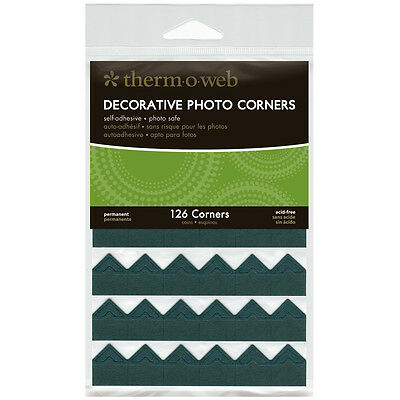 """Decorative Photo Corners 126/Pkg-Black, Set Of 3"""