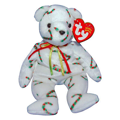 Ty Beanie Baby Cand-e - MWMT (Bear Internet Exclusive 2001) Christmas