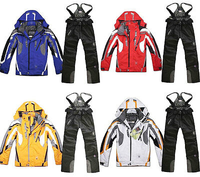 Men's Winter Ski Suit Pants Jacket Waterproof Coat Snowboard Snowsuits Outdoor