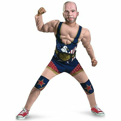 Official TNA Impact Wrestling Kurt Angle Costume Fancy Dress (Size M)