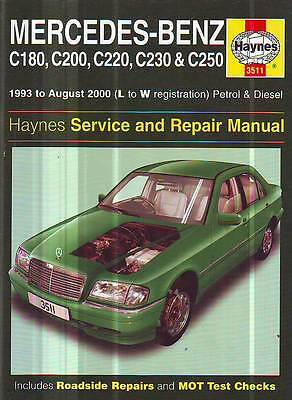Mercedes Benz  C180 C220 C200 C230 C250   WORKSHOP  SERVICE MANUAL 1993-8/2000