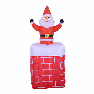 Animated Christmas Inflatable Santa Claus in Chimney Holiday Decor Outdoor Yard