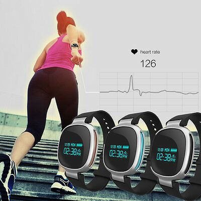 NEW Waterproof Sports Heart Rate Monitor Wrist Band Pedometer GPS Tracker Watch