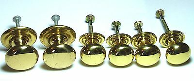 6X Antique Styled Brass Chest/drawer/door Handle Knobs With Backplates