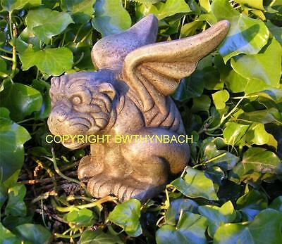 New Rubber Latex Mould Mold Moulds Gargoyle Dog With Wings Garden Statue