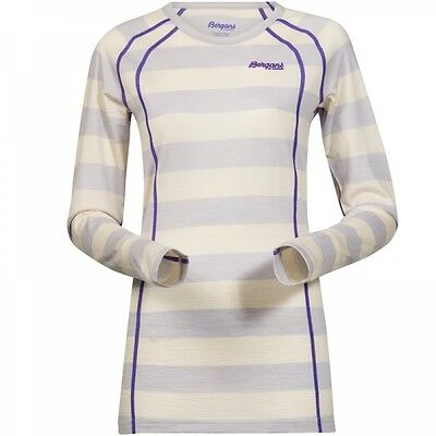 Bergans Fjellrapp Lady Shirt Damen Merino Funktionsoberteil white striped-funky