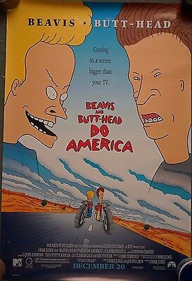 Beavis & Butthead do America US Single Sided Movie Poster 27 x 40 inches