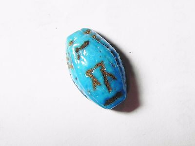 Zurqieh- Af553- Ancient Egypt, 18Th Dynasty, Fainece Scarab. 1400 B.c