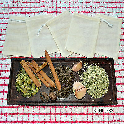 Soups / Bouquet Garni Infusion Wines Herbs Spices 5 X Muslin Bags 3X4 £4.98 F/p