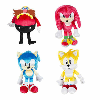 """Tomy Sonic Boom 25th anniversary 8"""" Plush - Sonic Dr Eggman  Knuckles Tails  NEW"""