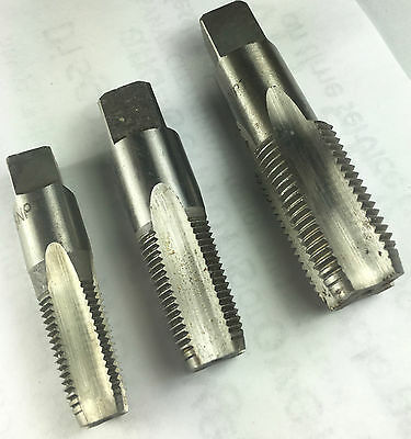 Set of 3 PIPE TAP Taps 1/4-18,  3/8 -18 &1/2 -14 Pipe Tap (NPT)