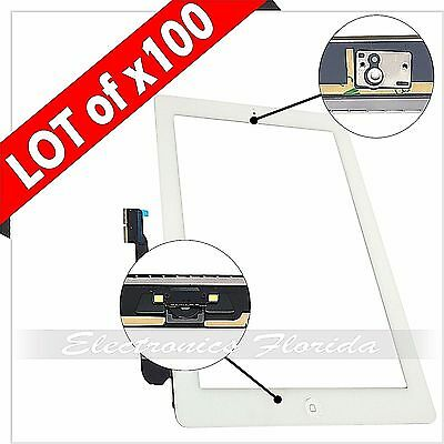 Lot of 100 White Screen Glass Digitizer replacement for i3 A1416 A1403 A1430