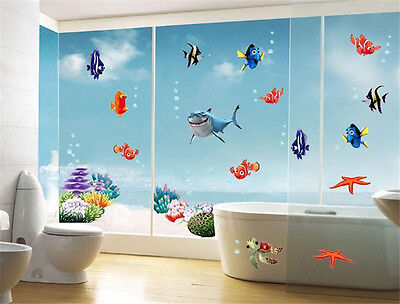Fish Joy Ocean Shark Home Room Decor Removable Wall Stickers Decal Decorations