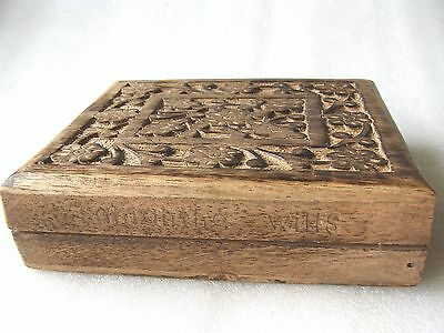 Samanta Wells Hand Carved Wood Trinket Box