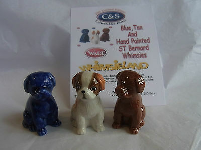 Wade Whimsie St Bernard Puppies Brown Colbolt And Hand Painted Le 250