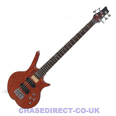 Shine SB-205 N Five 5 String Electric Bass Guitar Natural Finish Active s