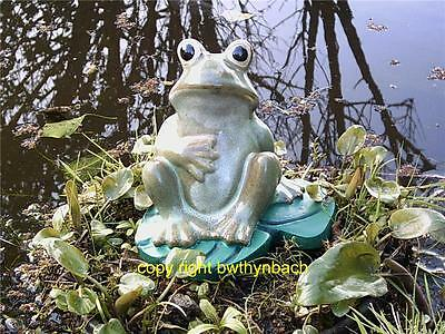 New Rubber Latex Mould Moulds Mold To Make Concrete Garden Frog On A Lillypad