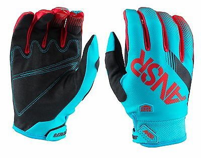 Guanti Moto Enduro Cross Ansr Answer Syncron 2017 Blu Red Gloves Tg Xl