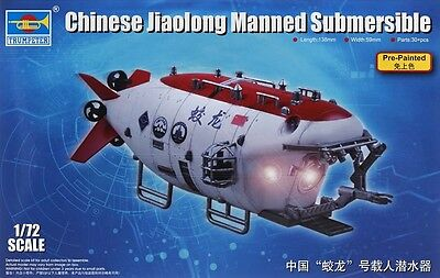 Trumpeter 1:72 Chinese Jiolong Manned Submersible Model Kit TSM7303