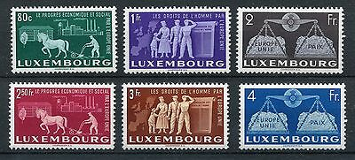 LUXEMBOURG 1951 EUROPA MNH Set 6 Stamps Mi cat EURO 220