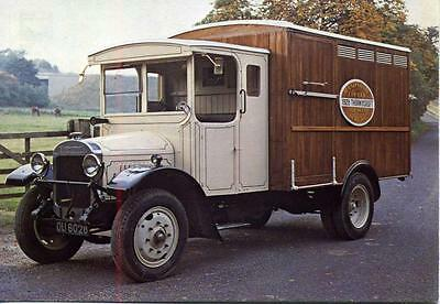 1928 Thorneycroft 2 ton cattle truck Hampshire County Council unused postcard