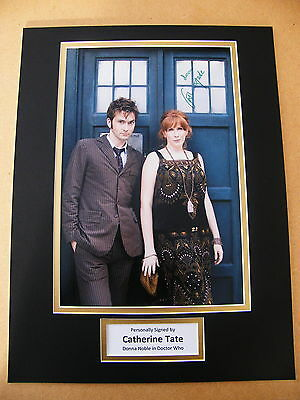 CATHERINE TATE GENUINE HAND SIGNED AUTOGRAPH 16x12 PHOTO MOUNT DOCTOR WHO & COA