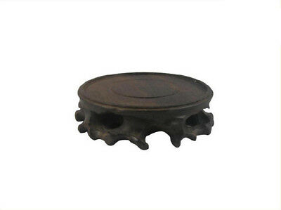 Natural wood root stand/base carving for display teapot
