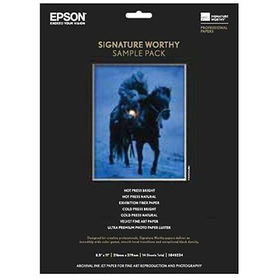Epson S045234 Paper, Signature Worthy Sample Packs