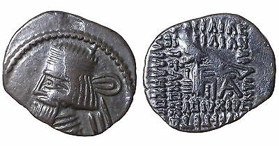 Parthian Empire. Vologases III, 111 - 146 A.D. Silver drachm CERTIFIED #g32