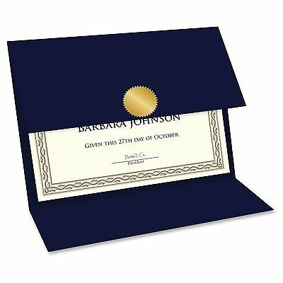 Geographics Double-fold Certificate Holder - 5 / Pack - Navy (geo47837)