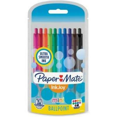 Paper Mate Inkjoy Retractable Mini Pens - 1 Mm Point Size - Assorted Ink -