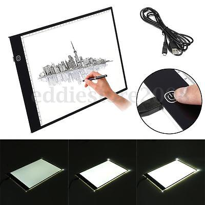 Dimmable A4 LED Stencil Board Light Tracing Pad Animation Art Tattoo Drawing Box