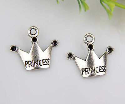210pcs zinc alloy crown charms 17x19mm 1A66
