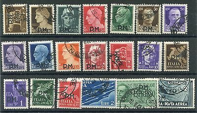 ITALY 1942 MILITARY POST Fine used (Cto) Set 20 Stamps cat EURO 185