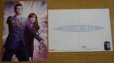 Catherine Tate SIGNED Official Dr who Photo Card Autograph Doctor Who Dedicated