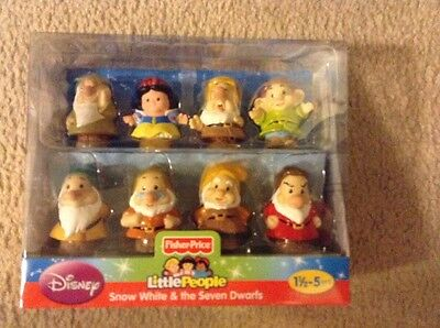 Brand New Fisher Price Little People  Snow White & The Seven Dwarfs