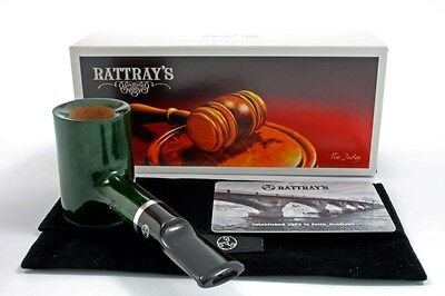 Rattray's Pfeife The Judge Stand up Poker grün poliert pipe pipa
