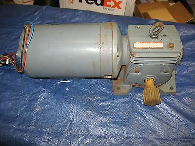 Boston Gear Speed Reducer With 3/4 HP Motor 1 Phase 30:1 Reduction UF124C-30 J4