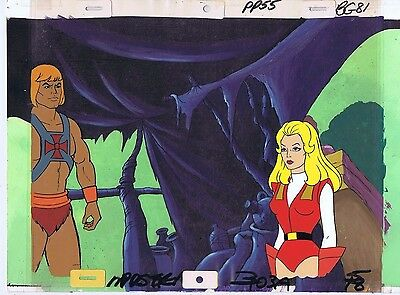 She-Ra Princess of Power Production Original Animation Cel & Painted Bkgd #A9675