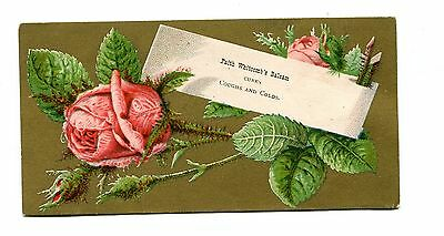 Victorian Trade Card FAITH WHITCOMBS BALSAM Cough & Cold Cure