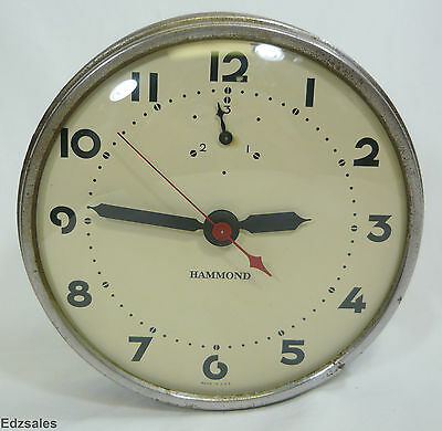 Vintage Hammond instrument Synchronous Electric Wall Clock