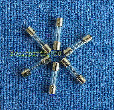 5pcs T2AL250V, T2A 250V, T2L250V cartridge GLASS fuses 5X20mm, 2A 250V NEW