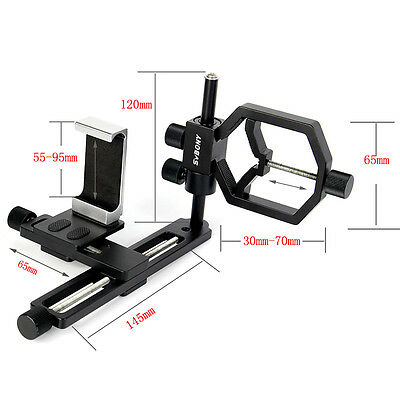 New Universal Stand Spotting Scope Astronomical Telescope Mount+Metal Phone Clip