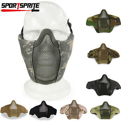 Tactical Hunting Metal Mesh Airsoft Paintball Protective Gear Half Face Mask