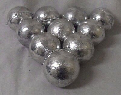 5 Pounders High purity .9998 Fine Zinc Bullion Anode Round Projects FREE SHIP