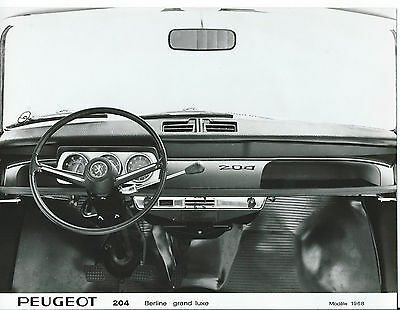 Peugeot 204 Berline Grand Luxe 1968 Interior Dashboard Photograph