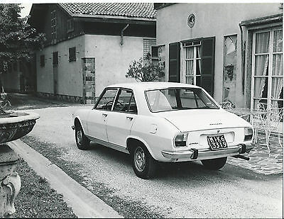 Peugeot 504 Rear Side View Milan Licence Plates Photograph