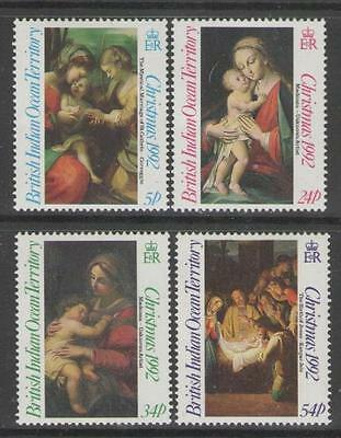 British Indian Ocean Terr Sg128/31 1992 Christmas Mnh